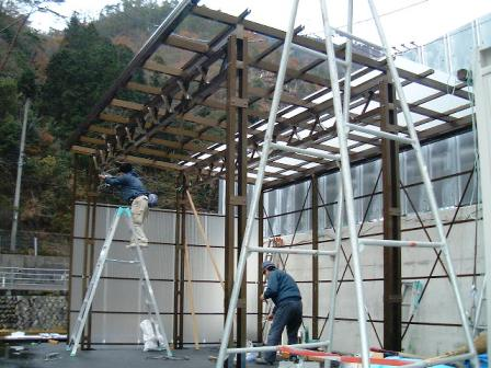 E-4-1安佐北区フォークリフト車庫新設工事
