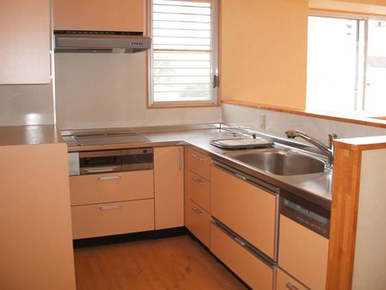 k-3 西区Nビル L字型キッチン